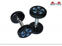 Body Tech 2.5kg Pair Of Pu Coated Flower Design Dumbbells